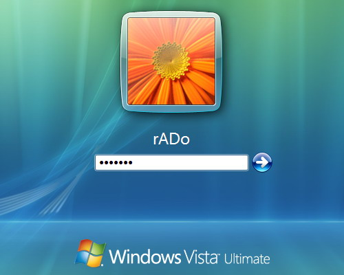 přihlášení do Windows Vista