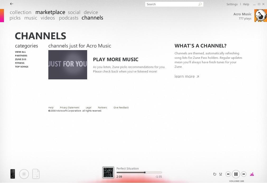 Zune Channels