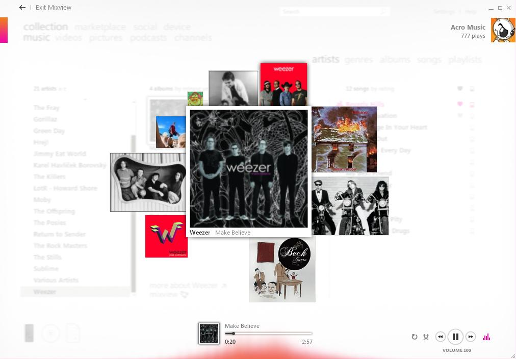 Zune MixView