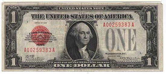 One dollar 1928