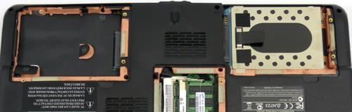 Toshiba A300D s osazenym jednim diskem