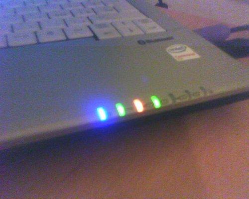 Foto: Modrá LED