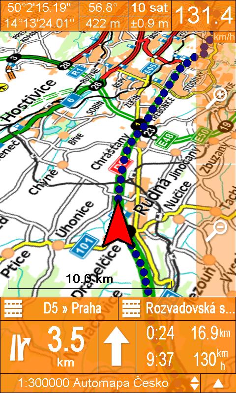 SmartMaps - pseudo 3D pohled při navigaci