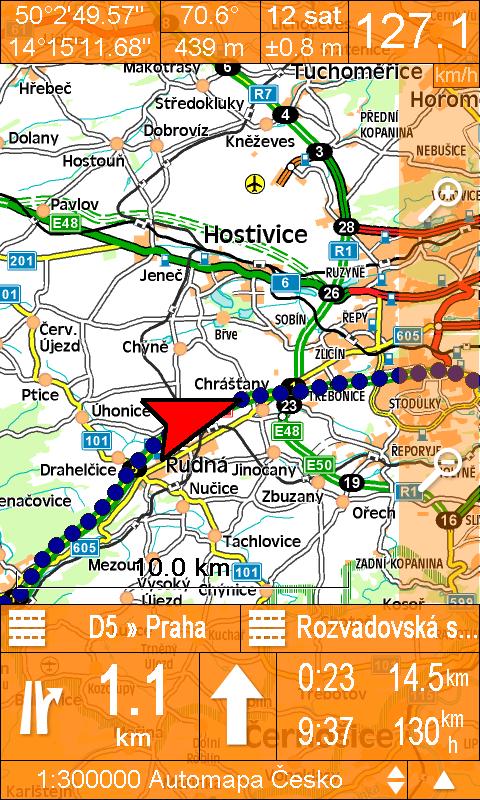 SmartMaps - mapa orientovaná na sever