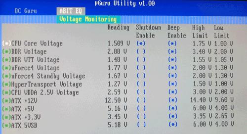 BIOS voltage