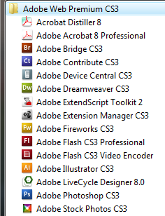 Adobe CS3 Web Premium