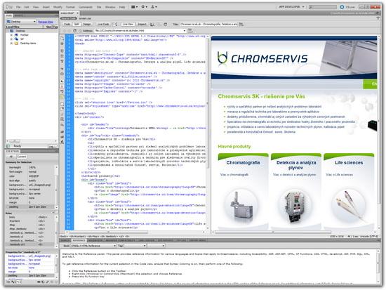 Adobe Dreamweaver CS5 - editace HTML