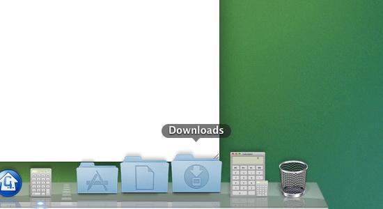 nafukovací Dock brání práci s oknem aplikace