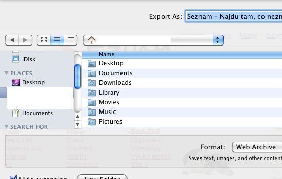 kam se souborem v OS X?