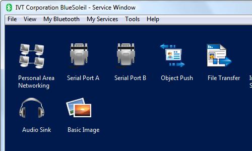 ovládací panel BlueSoleil