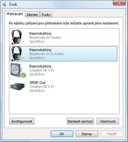 Bluetooth audio ve Vista