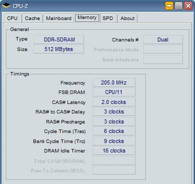 Kingston DDR400 CL2 Basic