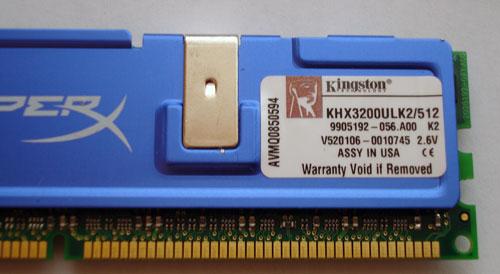 Kingston DDR400 CL2 ULL