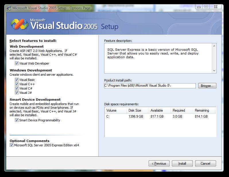 Expression Studio obsahuje i Visual Studio 2005 Standard