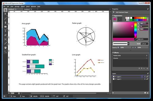 Expression Design - vektorové kreslení