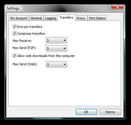 nastavení web access na každém z PC