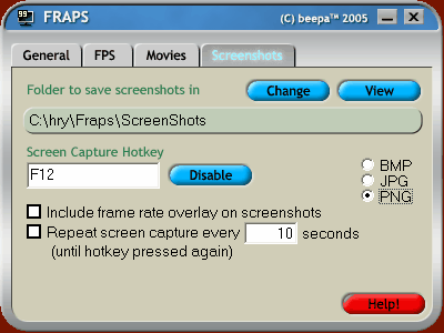 FRAPS - screenshoty