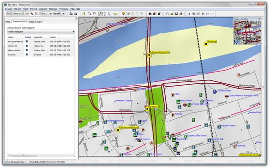 MapSource - zde si naklikáte trasu z bodů