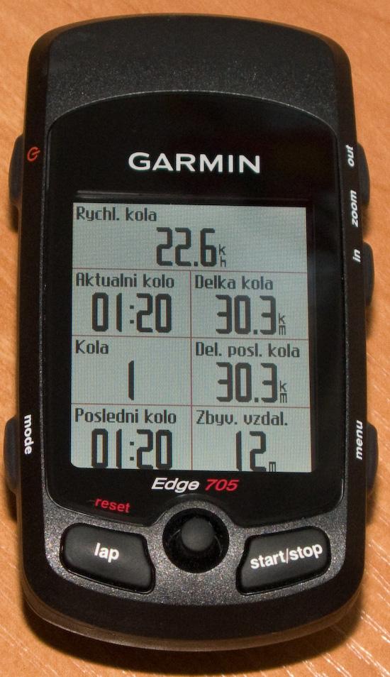 Garmin Edge 705 - druhý pohled na cyklopočítač