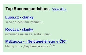 MyEgo.cz na Google Reader