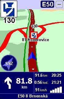 upozornění na radar na dálnici