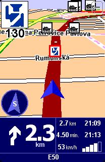 upozornění na radar v Praze