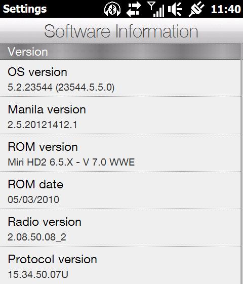 verze firmware