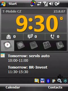 HTC Kaiser pohled na nakloněnou klávesnici