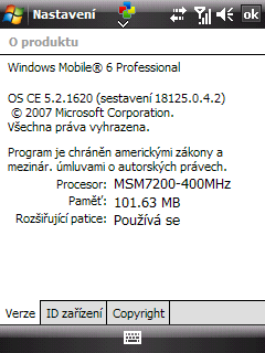 Windows Mobile 6.0 - OS