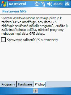 GPS nepovolení správy Windows