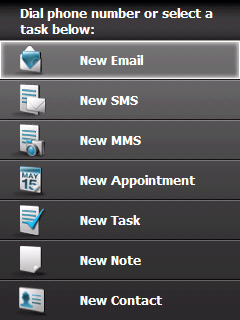 HTC rychlé menu aktivit