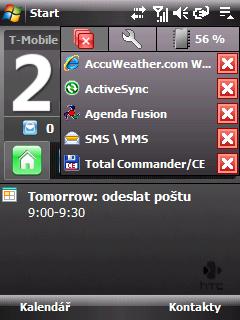 HTC přepínač aplikací