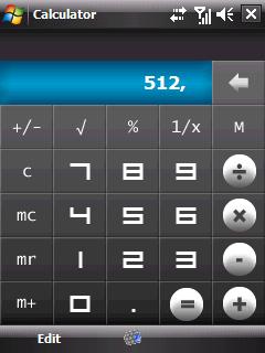 HTC kalkulačka