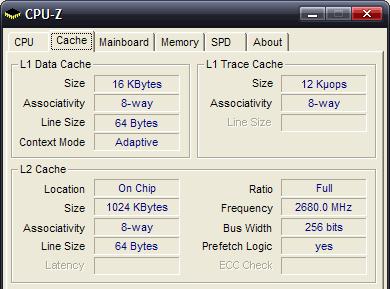 CPUZ - cache