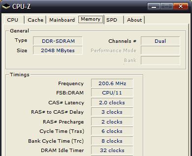 CPUZ - AMD paměť