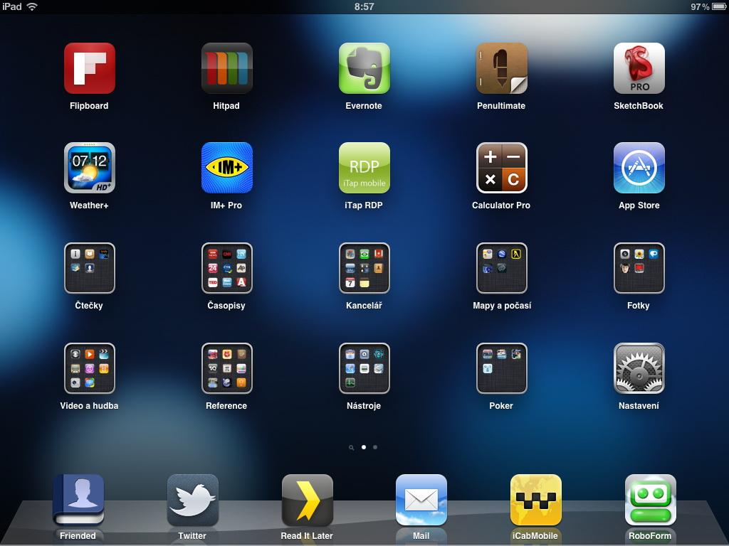 moje iPad 2 homepage