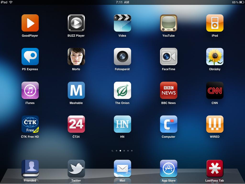 iPad 2 - homepage