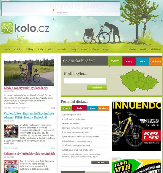 KOLO.cz homepage