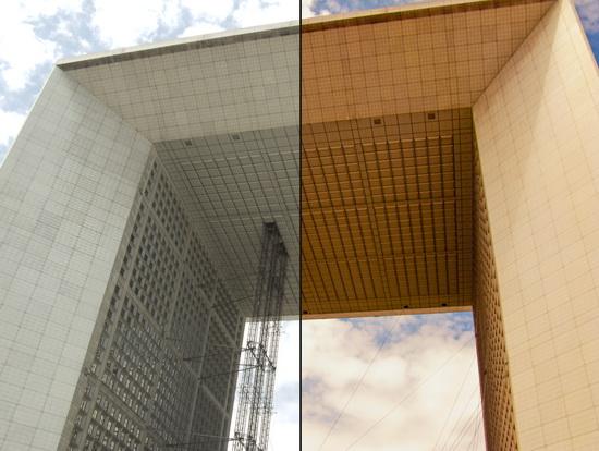 vlevo je původní vzhled, vpravo upravený