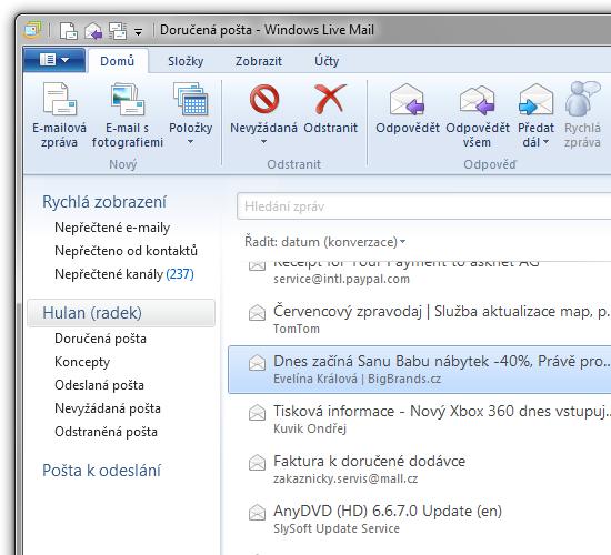 Windows Live Mail 2011