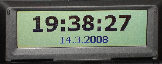 panel Datum a čas