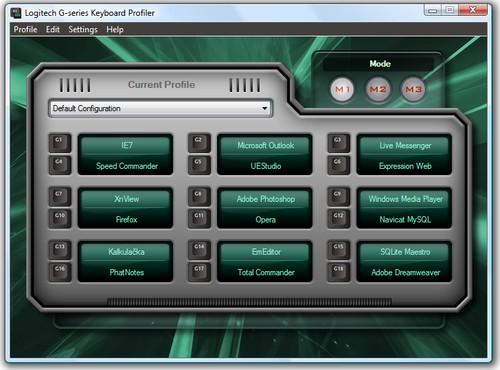 """Profiler umožňuje snadno nastavovat """"G"""" klávesy a profily"""