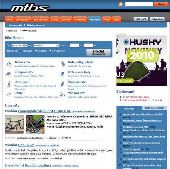 MTBS.cz bazar