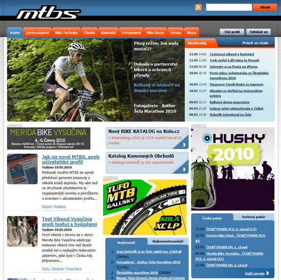 MTBS.cz homepage