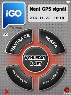 úvodní obrazovka iGO 2006