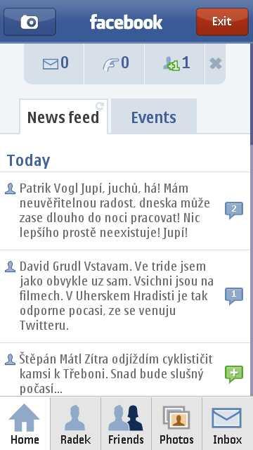 Facebook na Nokia N97