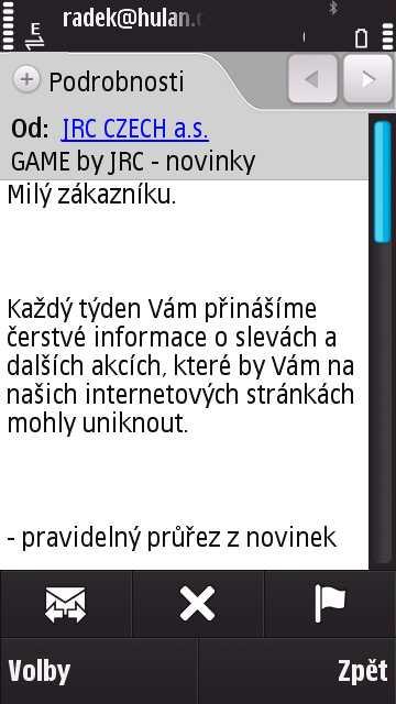 Email na Nokia N97