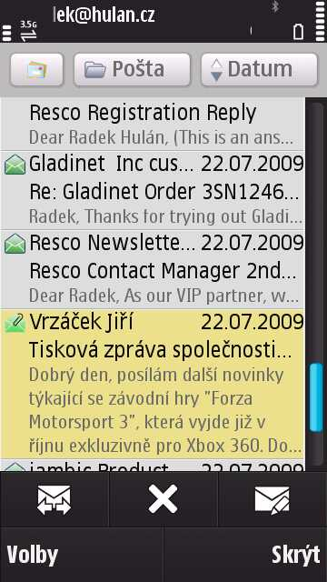 Nokia N97 Messaging