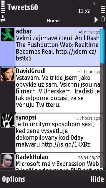 Twitter na Nokia N97