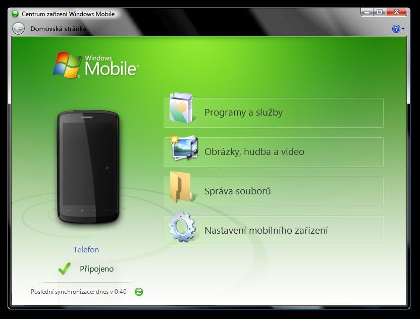 synchronizace HTC telefonů pod Windows je vynikající